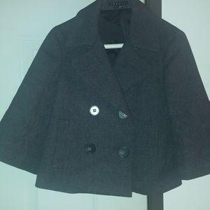 Gray pea coat
